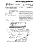 KEYBOARD FIXING STRUCTURE FOR FIXING A KEYBOARD AND PORTABLE ELECTRONIC     DEVICE THEREWITH diagram and image