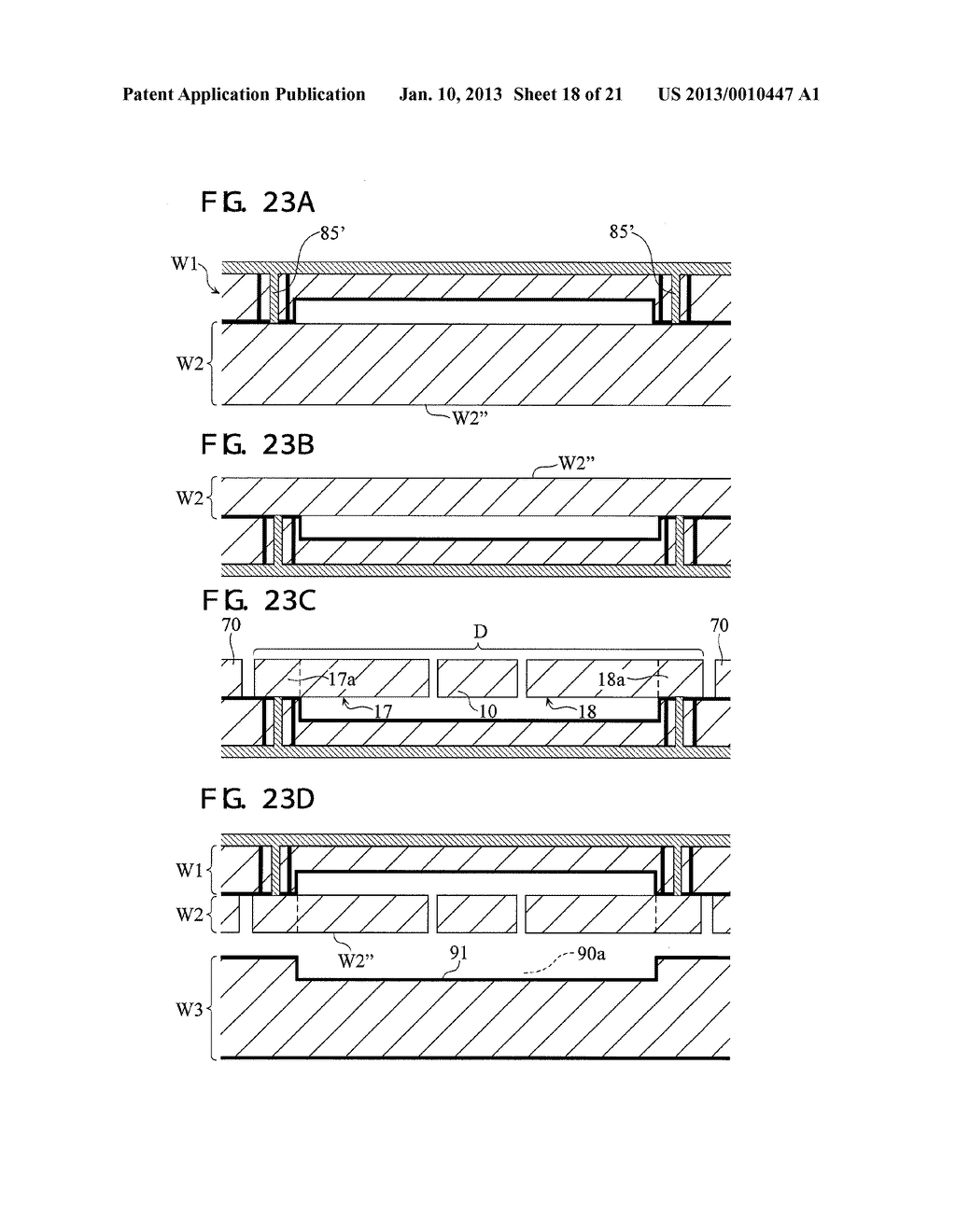 PACKAGED DEVICE AND METHOD OF FABRICATING PACKAGED-DEVICE - diagram, schematic, and image 19