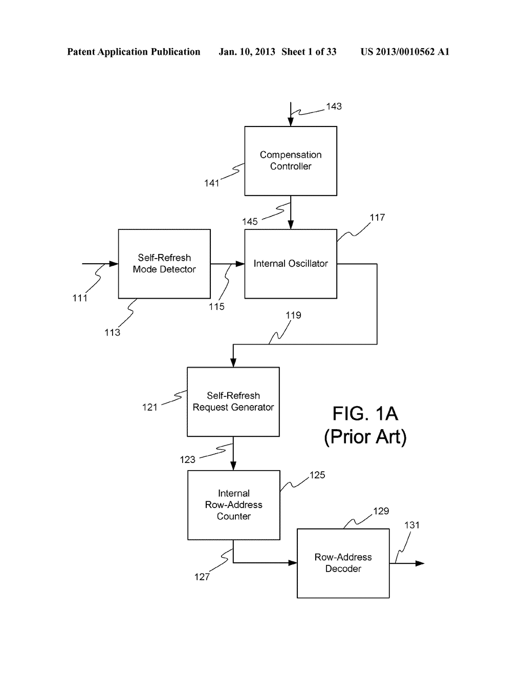 DYNAMIC RANDOM ACCESS MEMORY DEVICE AND METHOD FOR SELF-REFRESHING MEMORY     CELLS WITH TEMPERATURE COMPENSATED SELF-REFRESH - diagram, schematic, and image 02