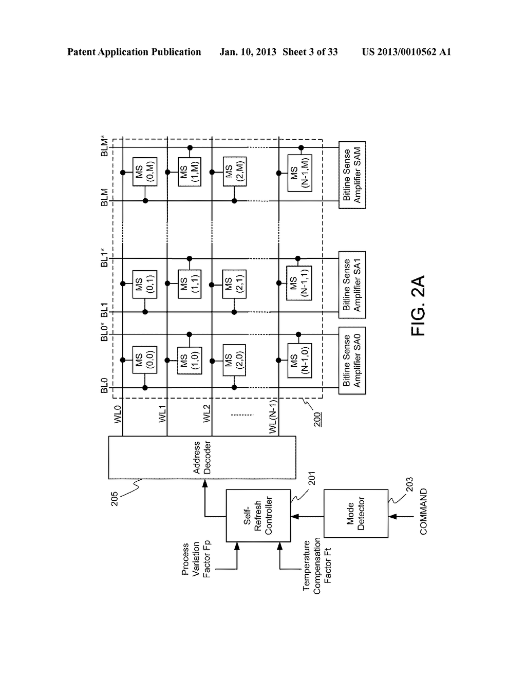 DYNAMIC RANDOM ACCESS MEMORY DEVICE AND METHOD FOR SELF-REFRESHING MEMORY     CELLS WITH TEMPERATURE COMPENSATED SELF-REFRESH - diagram, schematic, and image 04
