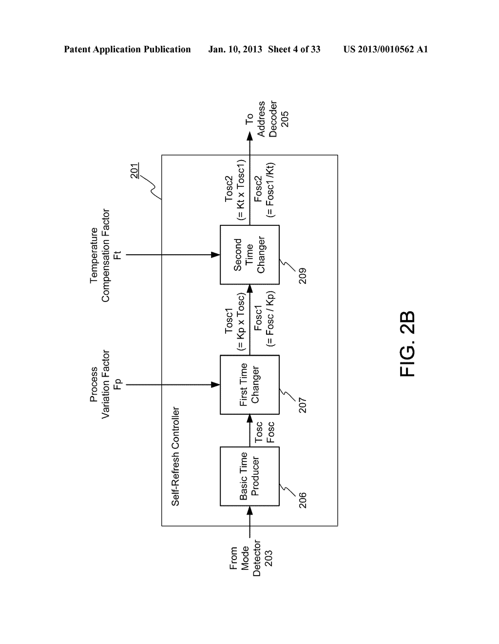 DYNAMIC RANDOM ACCESS MEMORY DEVICE AND METHOD FOR SELF-REFRESHING MEMORY     CELLS WITH TEMPERATURE COMPENSATED SELF-REFRESH - diagram, schematic, and image 05