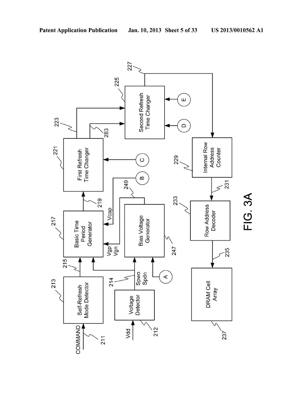 DYNAMIC RANDOM ACCESS MEMORY DEVICE AND METHOD FOR SELF-REFRESHING MEMORY     CELLS WITH TEMPERATURE COMPENSATED SELF-REFRESH - diagram, schematic, and image 06