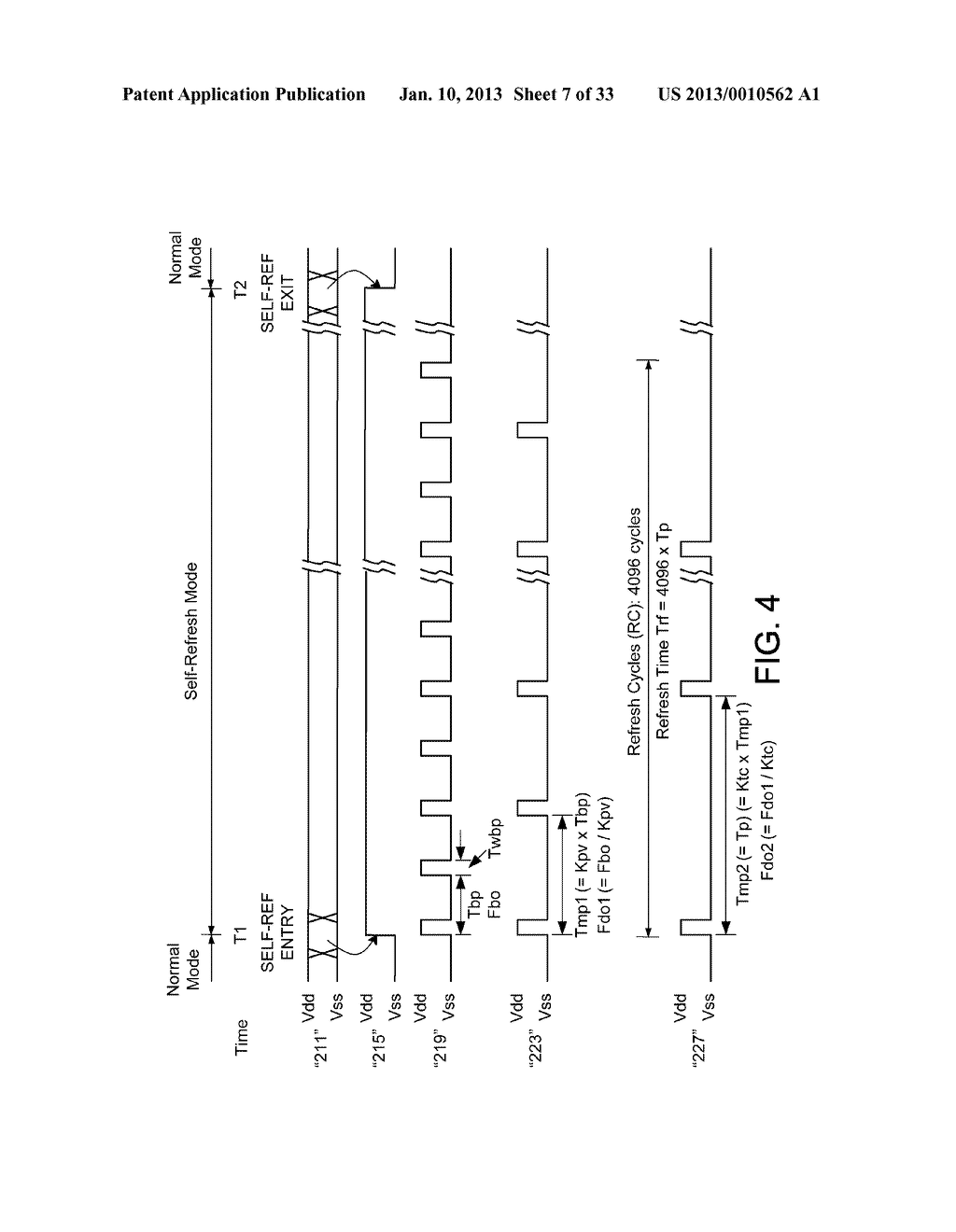 DYNAMIC RANDOM ACCESS MEMORY DEVICE AND METHOD FOR SELF-REFRESHING MEMORY     CELLS WITH TEMPERATURE COMPENSATED SELF-REFRESH - diagram, schematic, and image 08