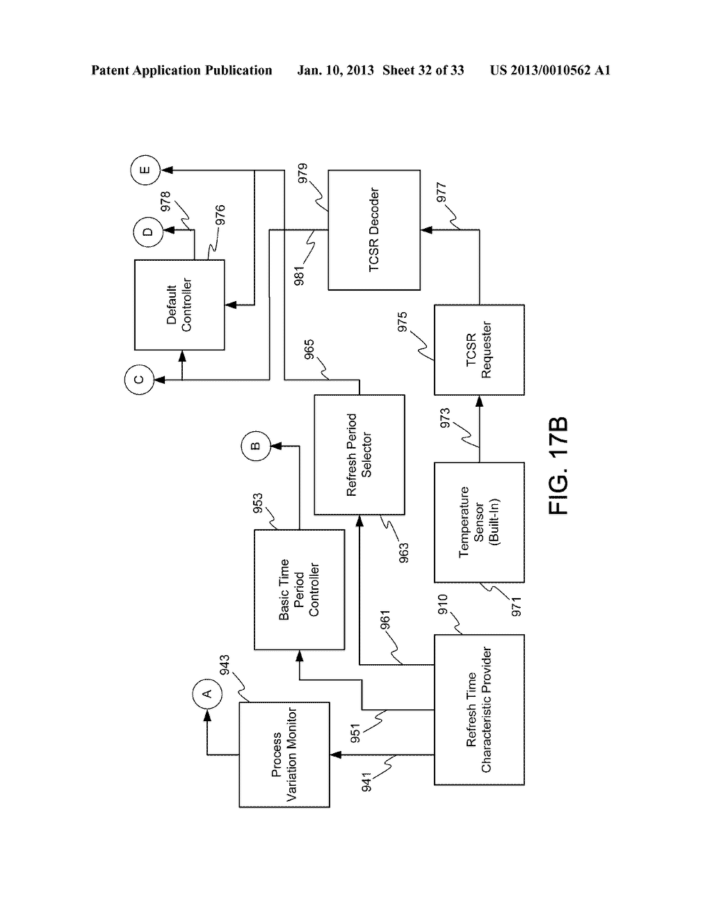 DYNAMIC RANDOM ACCESS MEMORY DEVICE AND METHOD FOR SELF-REFRESHING MEMORY     CELLS WITH TEMPERATURE COMPENSATED SELF-REFRESH - diagram, schematic, and image 33