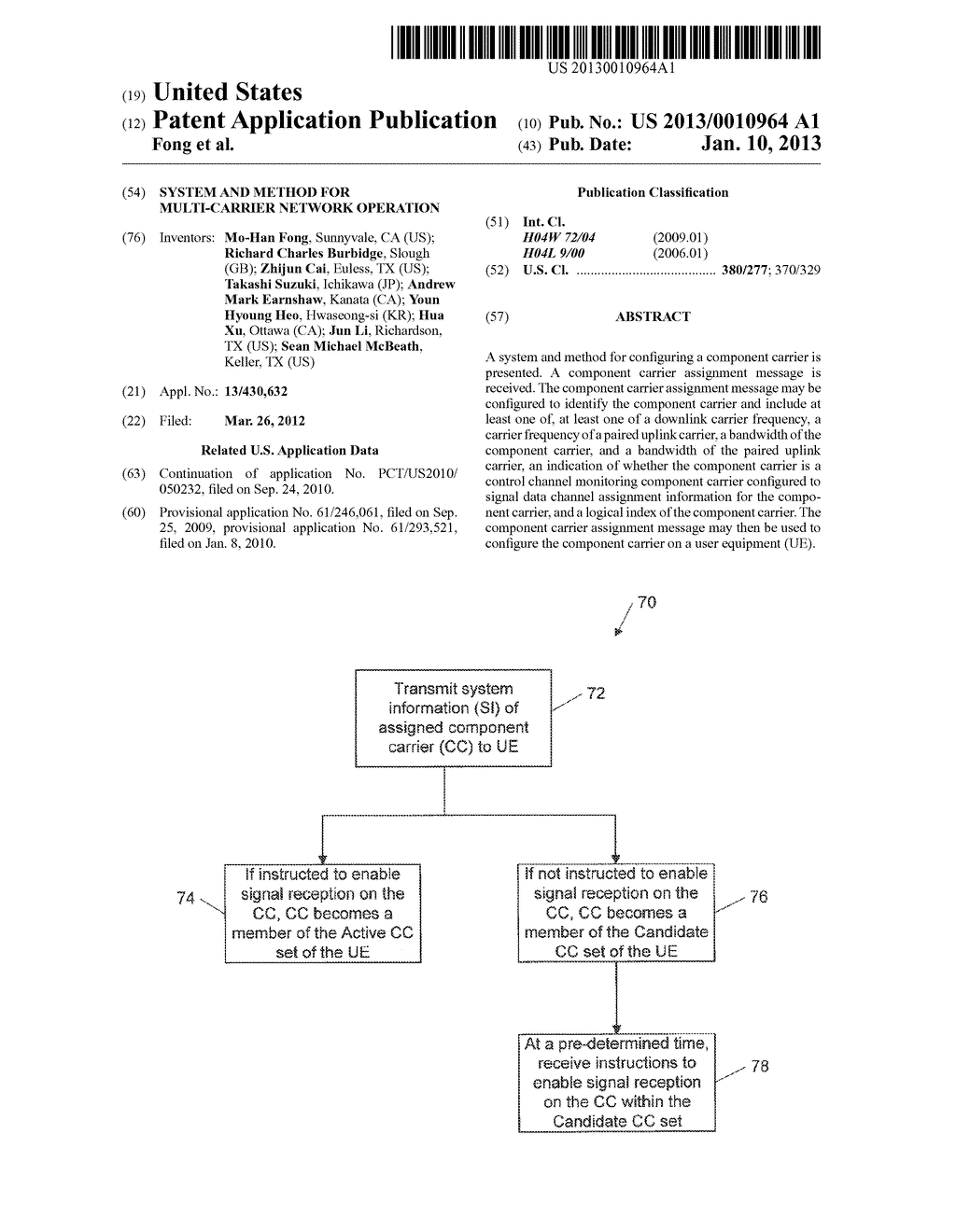 System and Method for Multi-Carrier Network Operation - diagram, schematic, and image 01