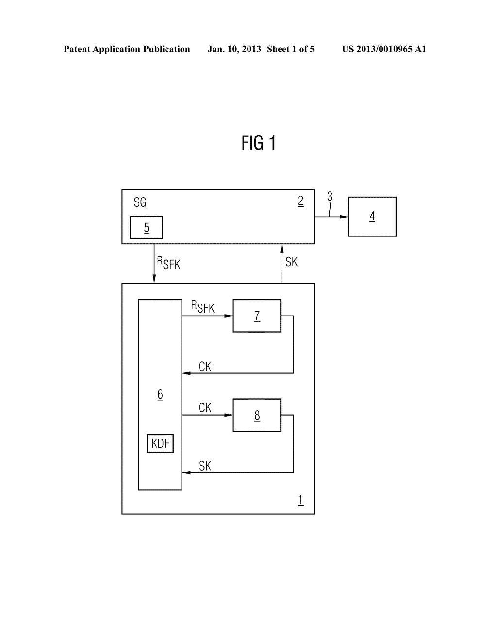 METHOD AND DEVICE FOR PROVIDING AT LEAST ONE SECURE CRYPTOGRAPHIC KEY - diagram, schematic, and image 02