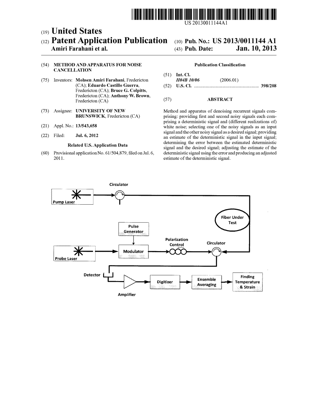 METHOD AND APPARATUS FOR NOISE CANCELLATION - diagram, schematic, and image 01