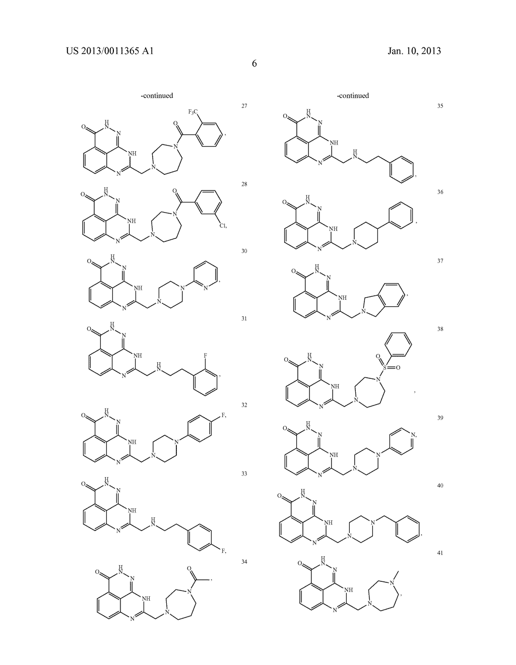 PARP INHIBITOR COMPOUNDS, COMPOSITIONS AND METHODS OF USE - diagram, schematic, and image 13
