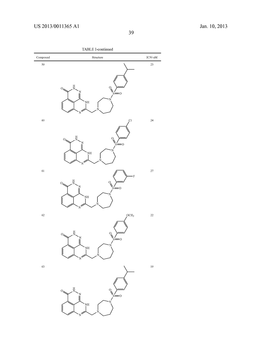 PARP INHIBITOR COMPOUNDS, COMPOSITIONS AND METHODS OF USE - diagram, schematic, and image 46