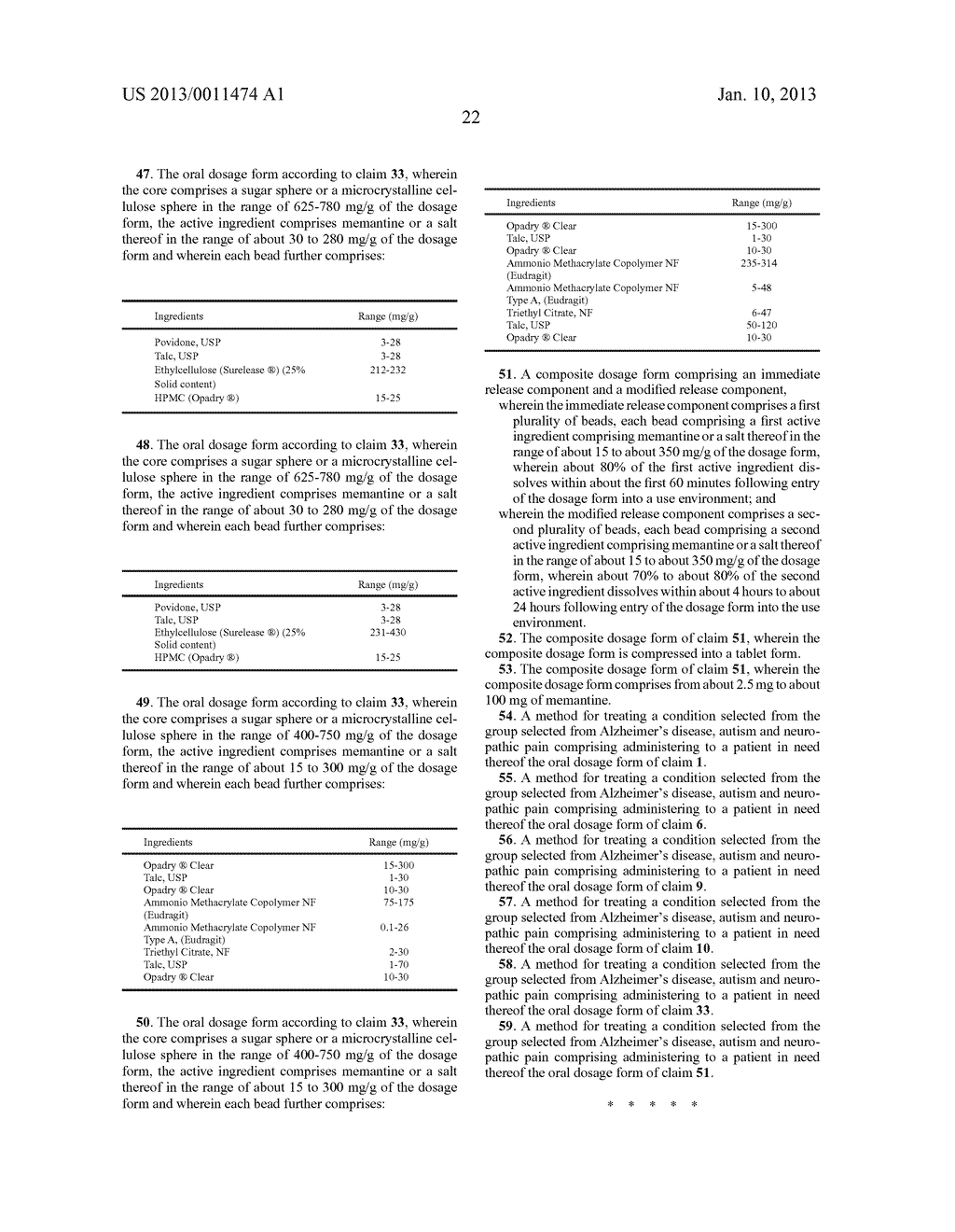 MODIFIED AND IMMEDIATE RELEASE FORMULATIONS OF MEMANTINE - diagram, schematic, and image 37