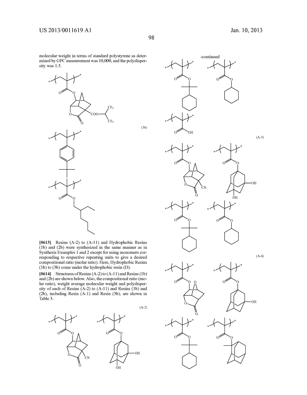 PATTERN FORMING METHOD, CHEMICAL AMPLIFICATION RESIST COMPOSITION AND     RESIST FILM - diagram, schematic, and image 100