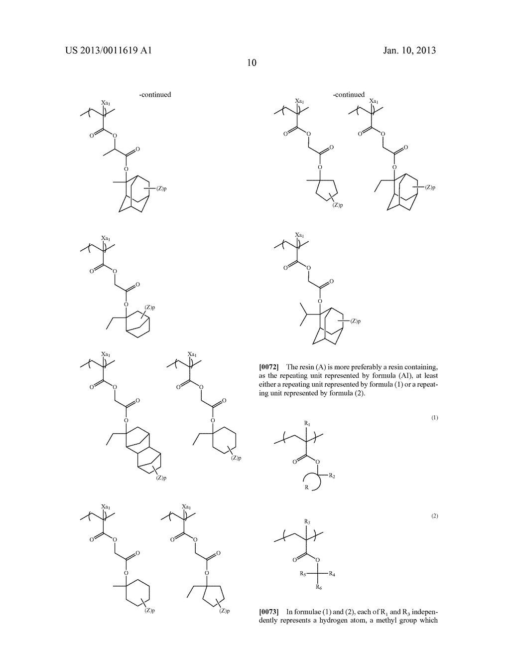 PATTERN FORMING METHOD, CHEMICAL AMPLIFICATION RESIST COMPOSITION AND     RESIST FILM - diagram, schematic, and image 12