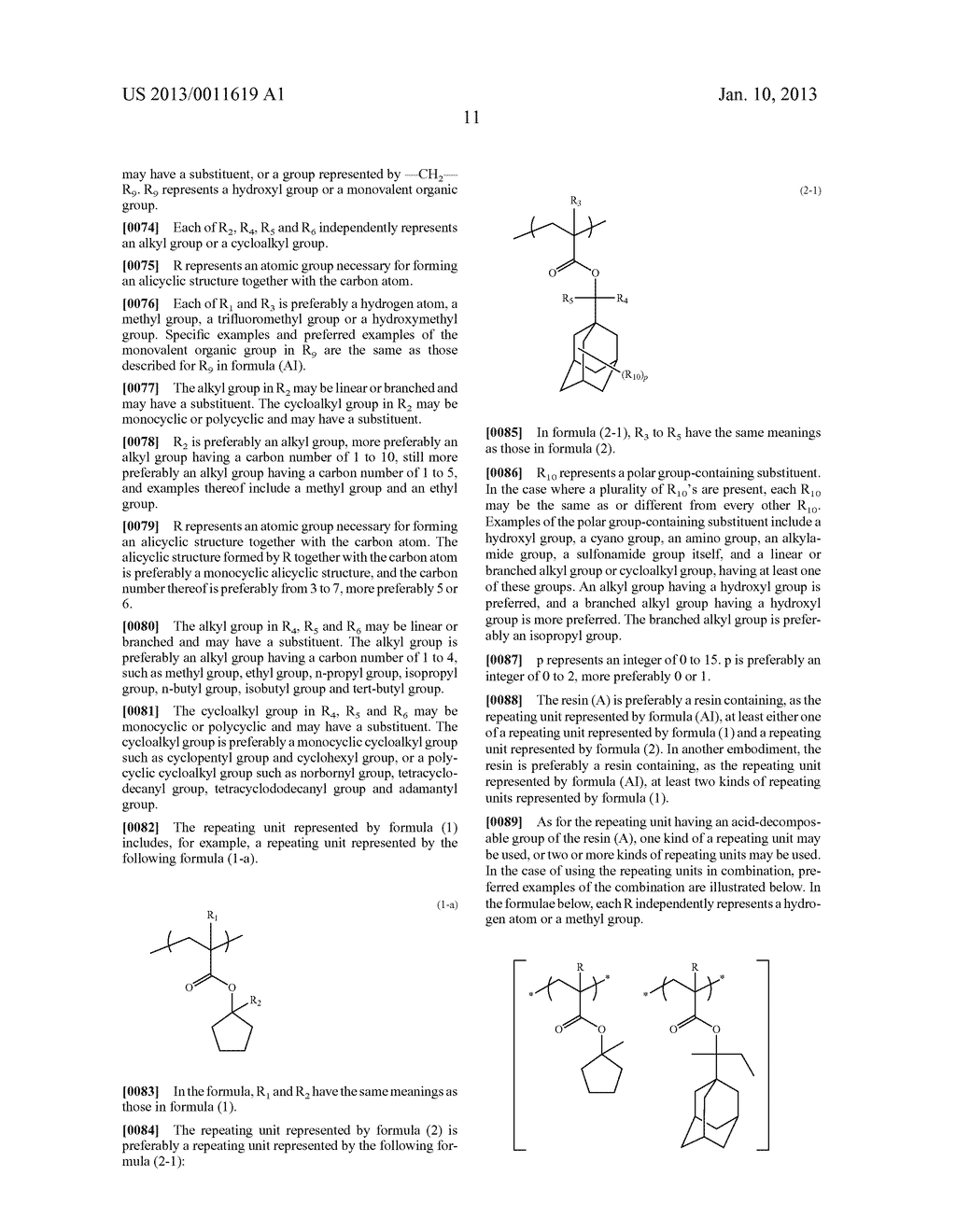 PATTERN FORMING METHOD, CHEMICAL AMPLIFICATION RESIST COMPOSITION AND     RESIST FILM - diagram, schematic, and image 13
