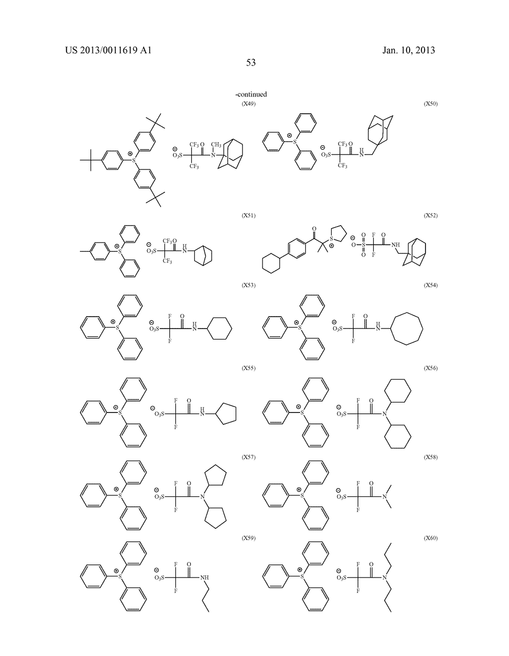 PATTERN FORMING METHOD, CHEMICAL AMPLIFICATION RESIST COMPOSITION AND     RESIST FILM - diagram, schematic, and image 55