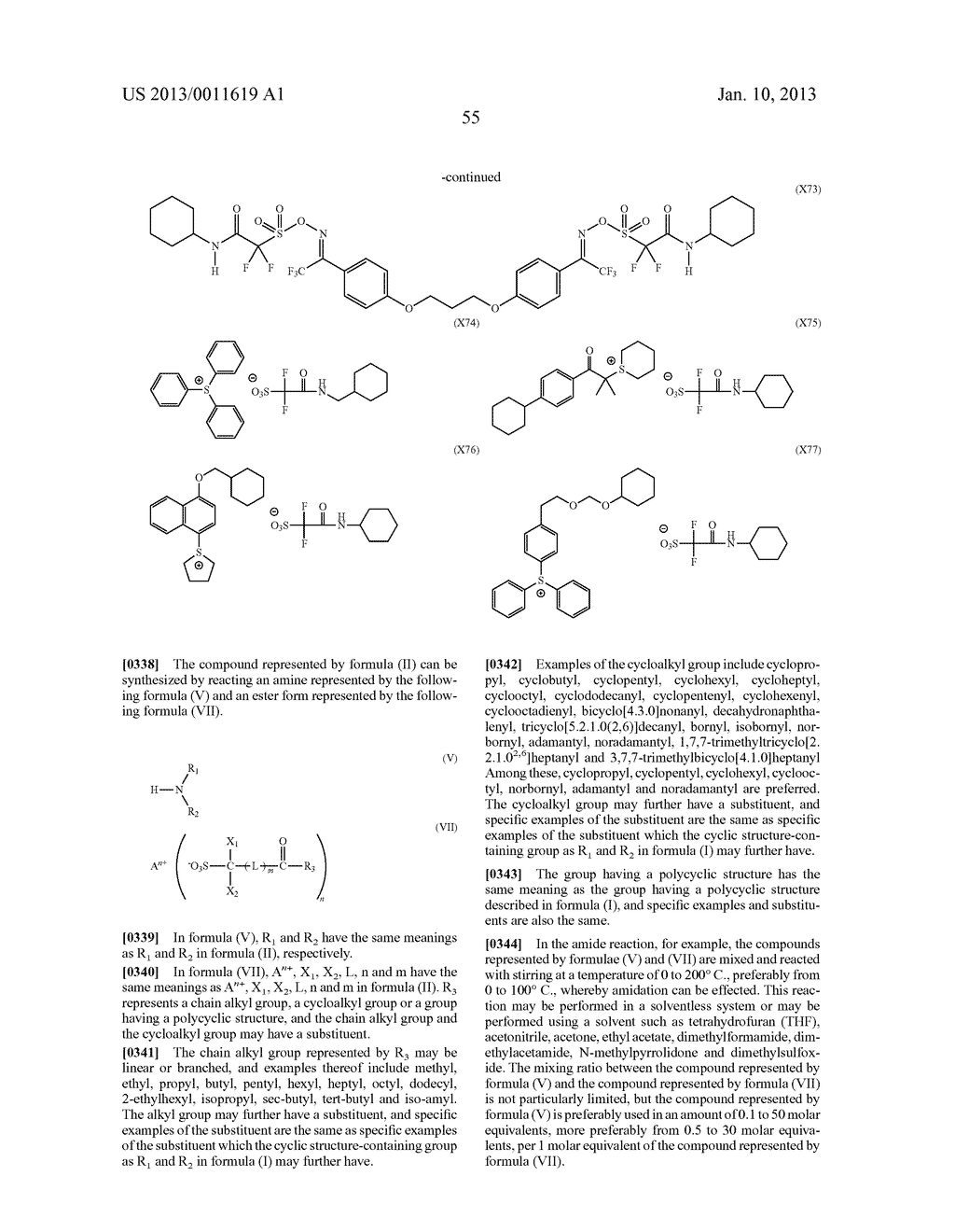 PATTERN FORMING METHOD, CHEMICAL AMPLIFICATION RESIST COMPOSITION AND     RESIST FILM - diagram, schematic, and image 57