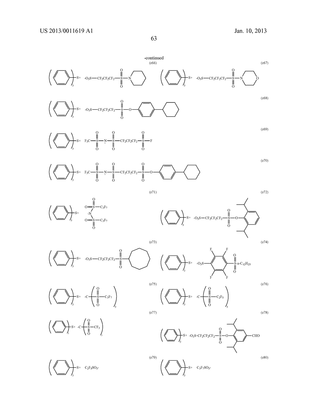 PATTERN FORMING METHOD, CHEMICAL AMPLIFICATION RESIST COMPOSITION AND     RESIST FILM - diagram, schematic, and image 65