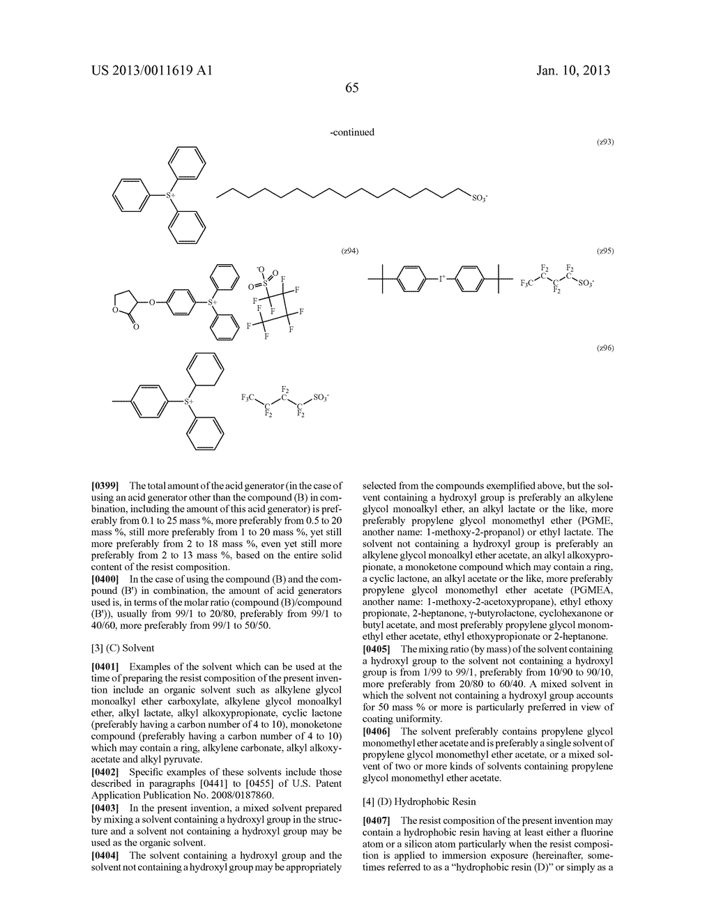 PATTERN FORMING METHOD, CHEMICAL AMPLIFICATION RESIST COMPOSITION AND     RESIST FILM - diagram, schematic, and image 67