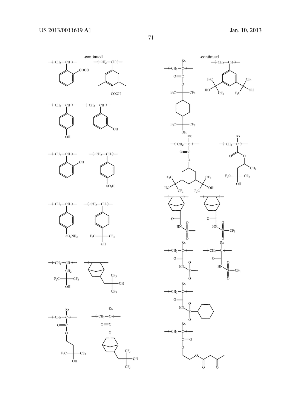 PATTERN FORMING METHOD, CHEMICAL AMPLIFICATION RESIST COMPOSITION AND     RESIST FILM - diagram, schematic, and image 73