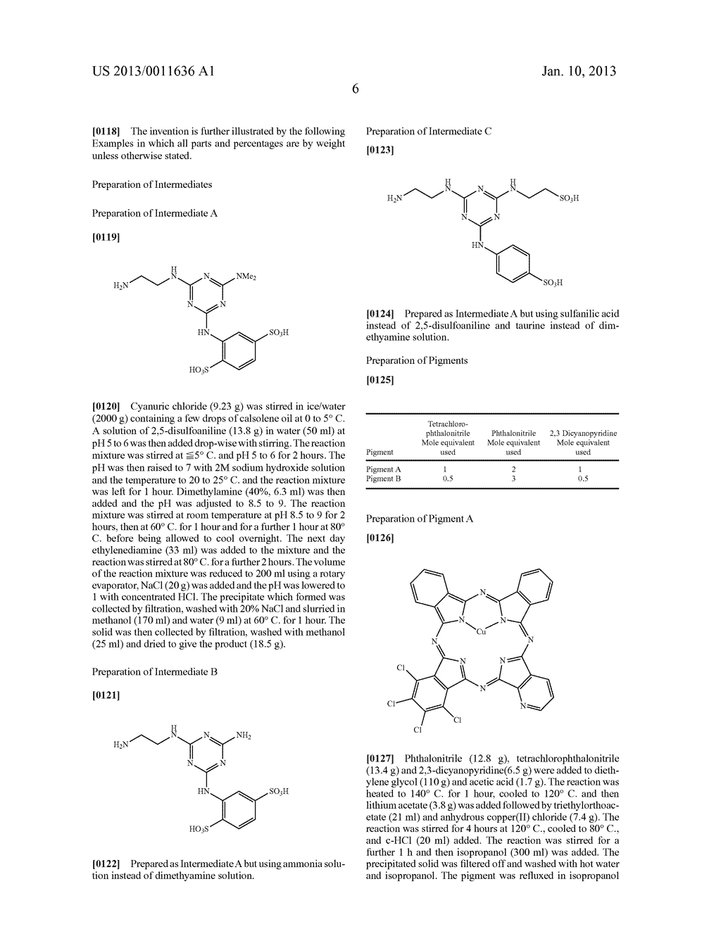 Azaphthalocyanines and Their use in Ink Jet Printing - diagram, schematic, and image 07