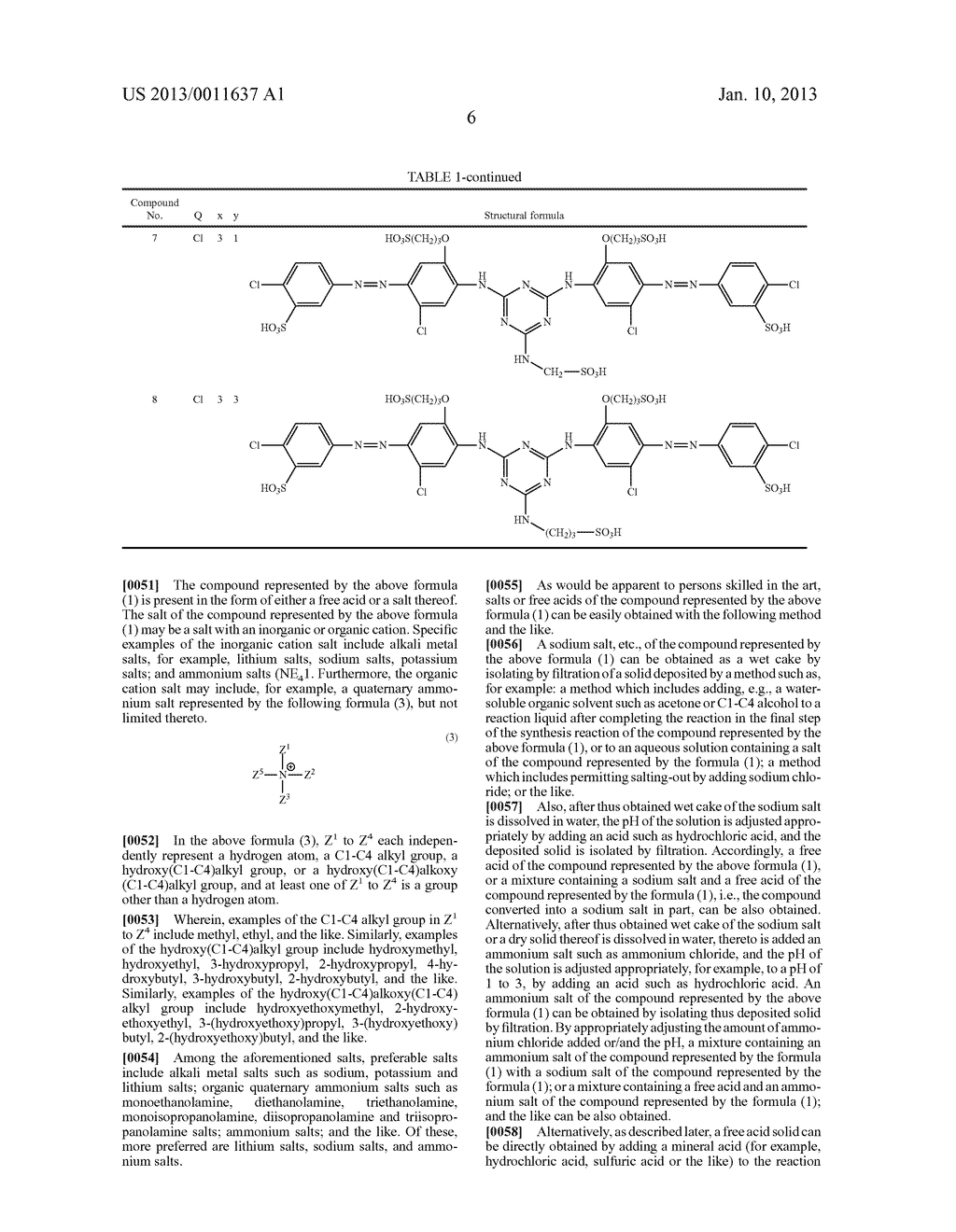 WATER-SOLUBLE AZO COMPOUND OR SALT THEREOF, INK COMPOSITION, AND COLORED     BODY - diagram, schematic, and image 07