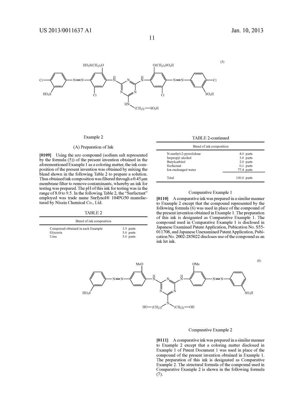WATER-SOLUBLE AZO COMPOUND OR SALT THEREOF, INK COMPOSITION, AND COLORED     BODY - diagram, schematic, and image 12