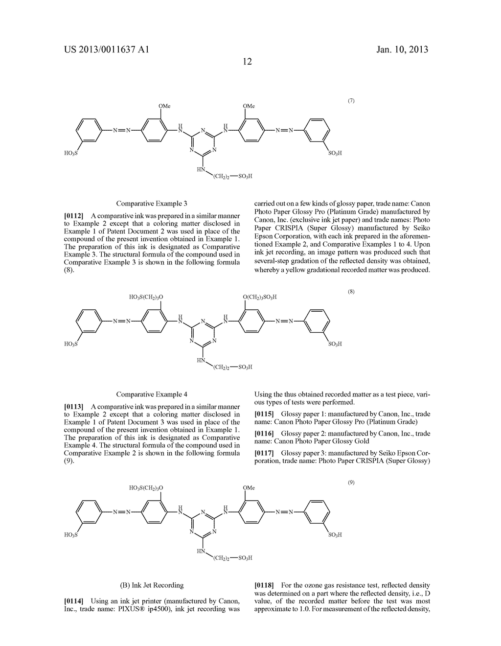 WATER-SOLUBLE AZO COMPOUND OR SALT THEREOF, INK COMPOSITION, AND COLORED     BODY - diagram, schematic, and image 13