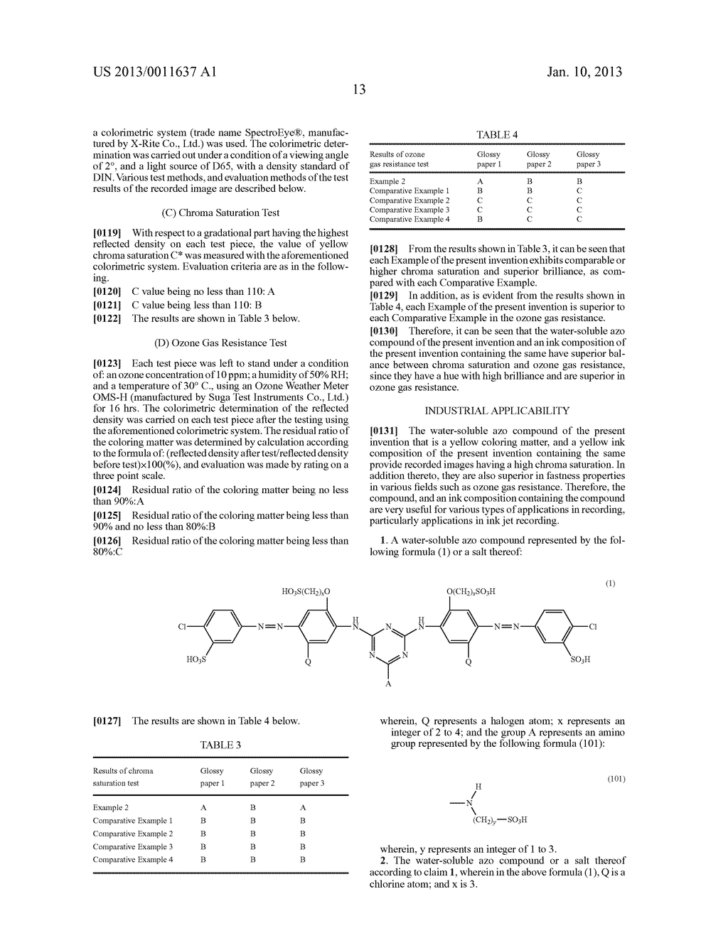 WATER-SOLUBLE AZO COMPOUND OR SALT THEREOF, INK COMPOSITION, AND COLORED     BODY - diagram, schematic, and image 14