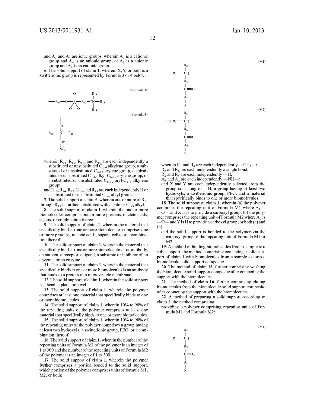 POLYMER INCLUDING GROUP HAVING AT LEAST TWO HYDROXYLS OR ZWITTERIONIC     GROUP AND USE THEREOF - diagram, schematic, and image 15