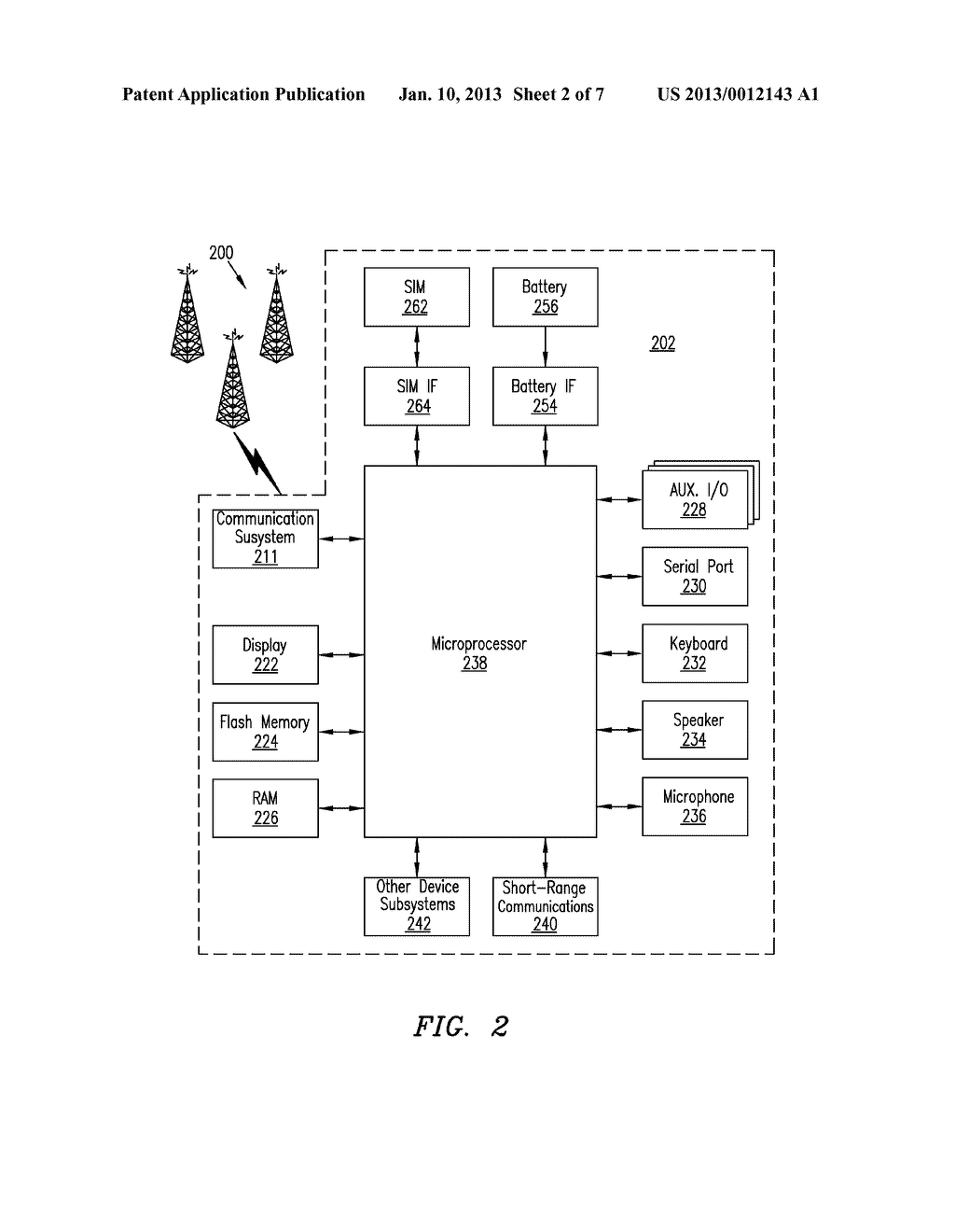 Method of Controlling a Plurality of Internal Antennas in a Mobile     Communication Device - diagram, schematic, and image 03