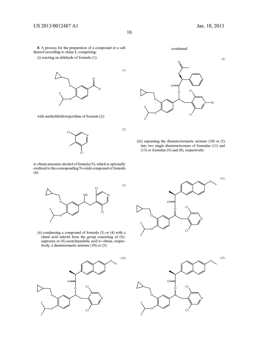 1-PHENYL-2-PYRIDINYL ALKYL ALCOHOL COMPOUNDS AS PHOSPHODIESTERASE     INHIBITORS - diagram, schematic, and image 18