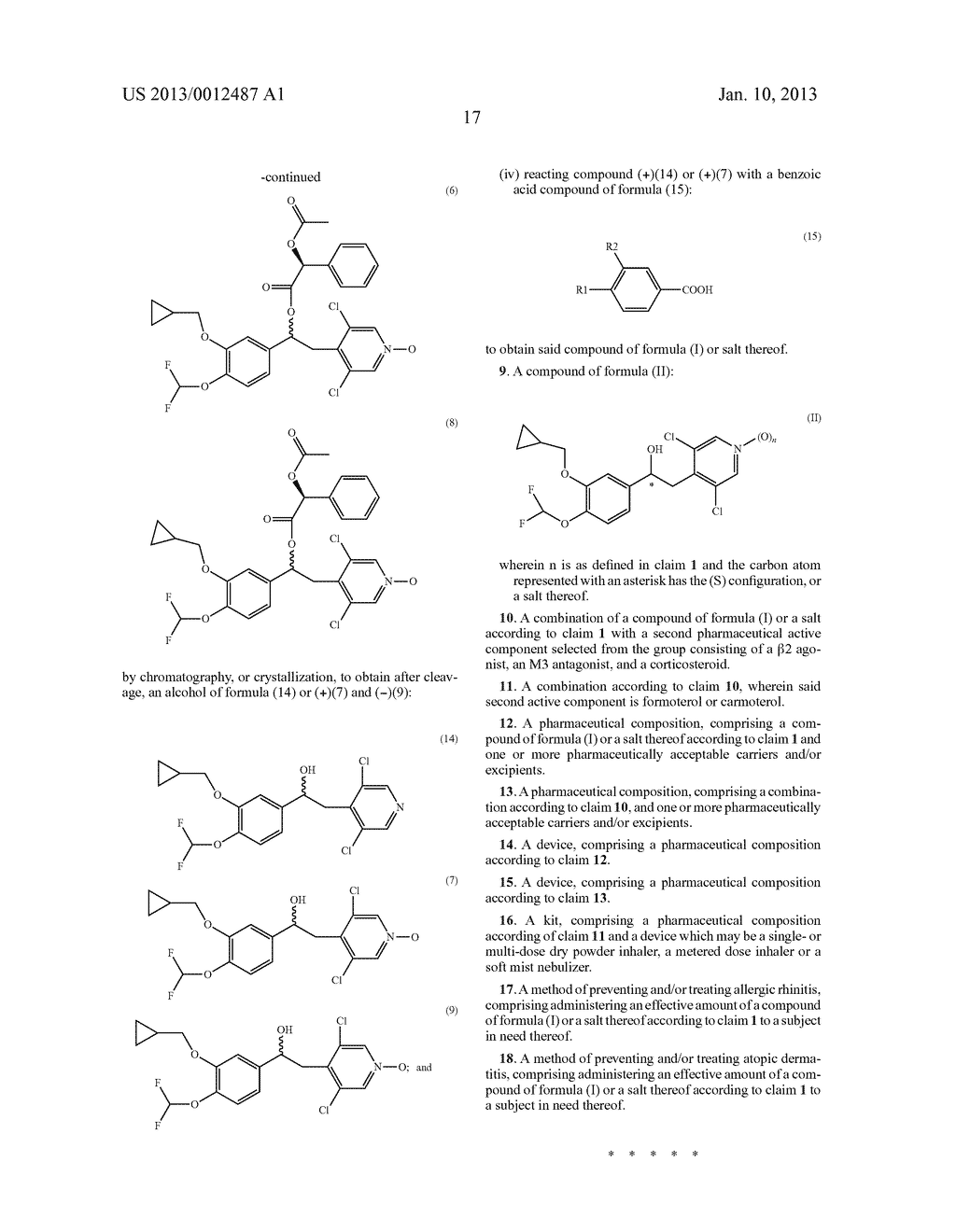 1-PHENYL-2-PYRIDINYL ALKYL ALCOHOL COMPOUNDS AS PHOSPHODIESTERASE     INHIBITORS - diagram, schematic, and image 19