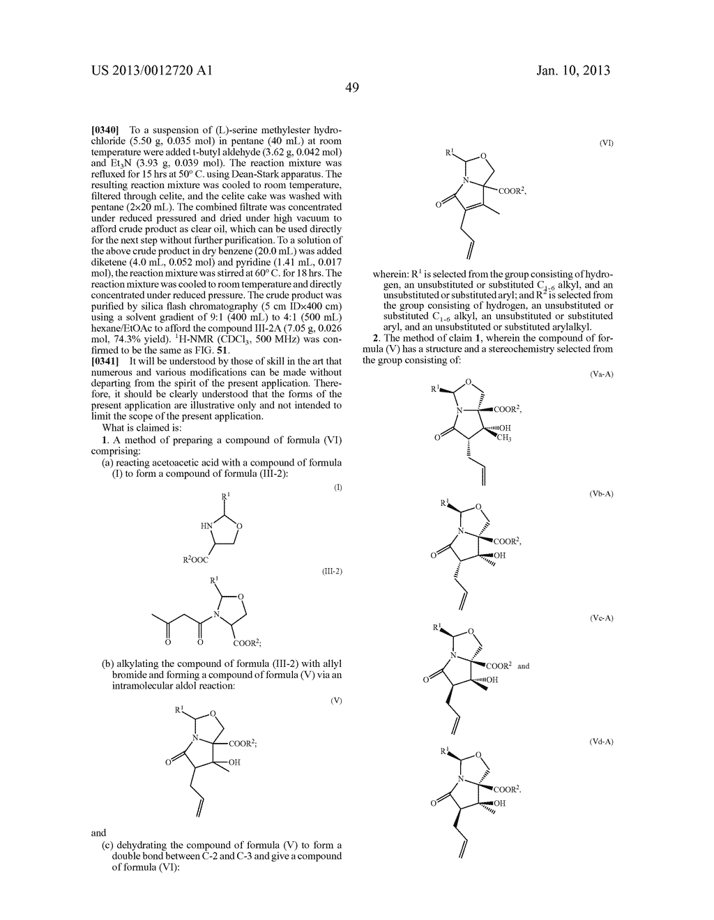 TOTAL SYNTHESIS OF SALINOSPORAMIDE A AND ANALOGS THEREOF - diagram, schematic, and image 111