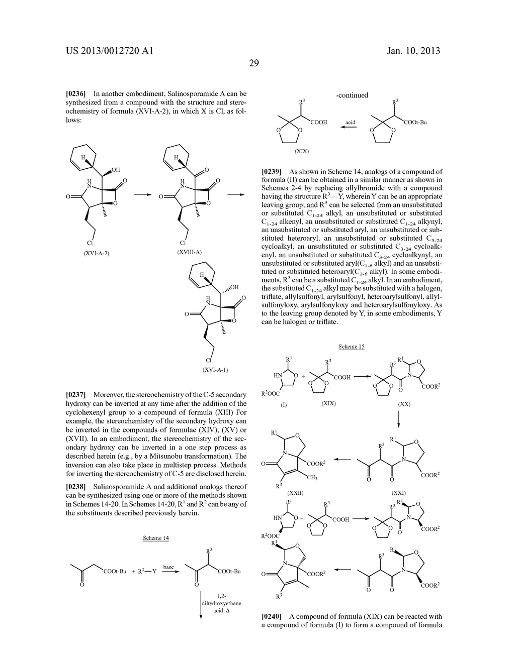 TOTAL SYNTHESIS OF SALINOSPORAMIDE A AND ANALOGS THEREOF - diagram, schematic, and image 91