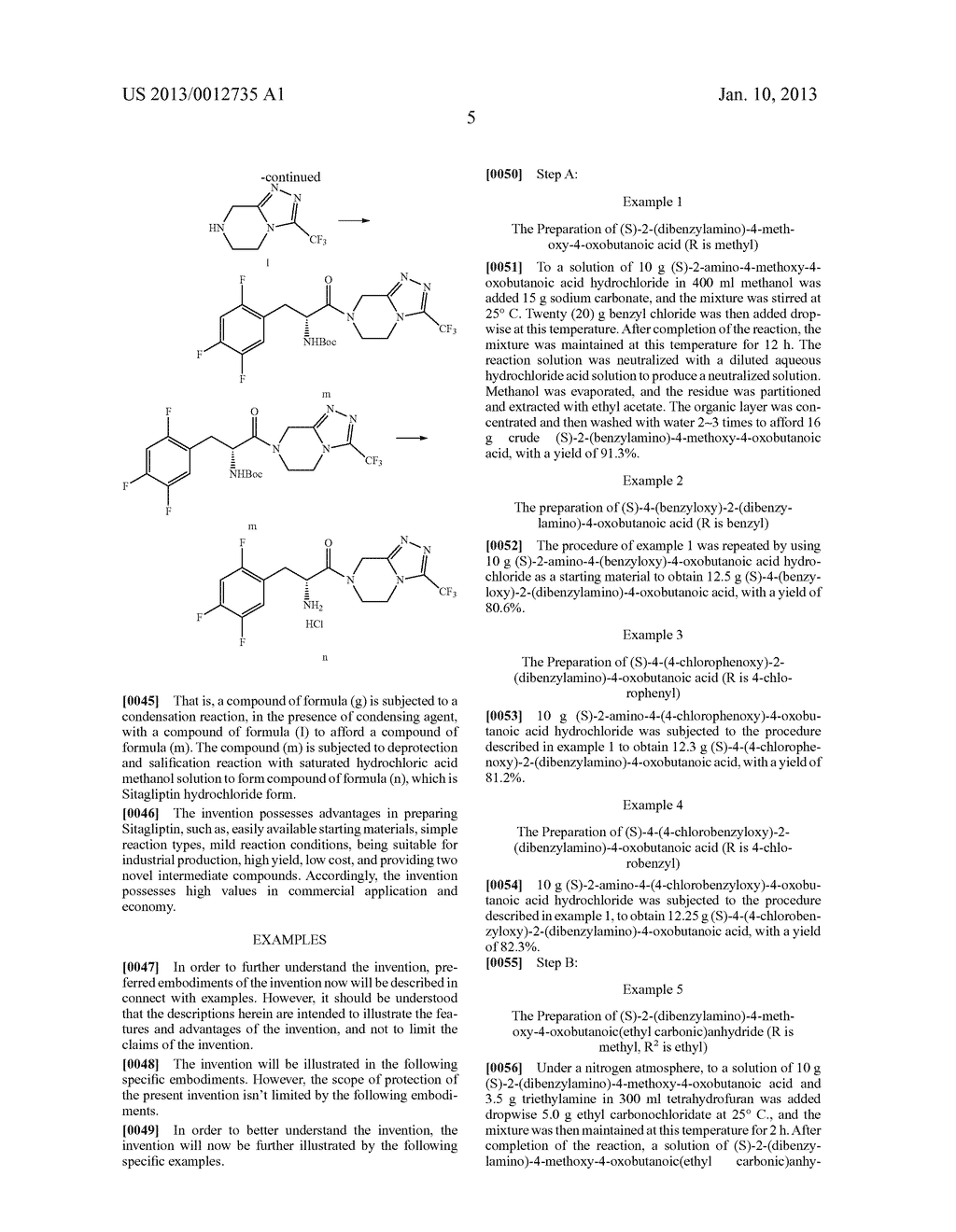 SITAGLIPTIN INTERMEDIATE COMPOUNDS, PREPARATION METHODS AND USES THEREOF - diagram, schematic, and image 06