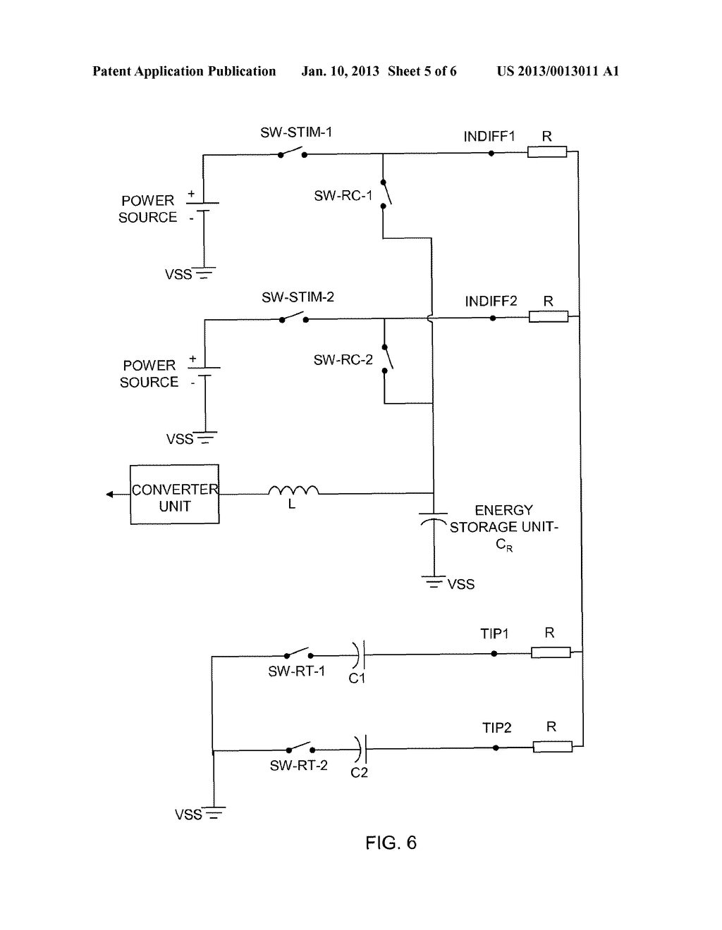 IMPLANTABLE MEDICAL DEVICE FOR PULSE GENERATION AND WITH MEANS FOR     COLLECTING AND STORING ENERGY DURING A RECHARGE PHASE - diagram, schematic, and image 06