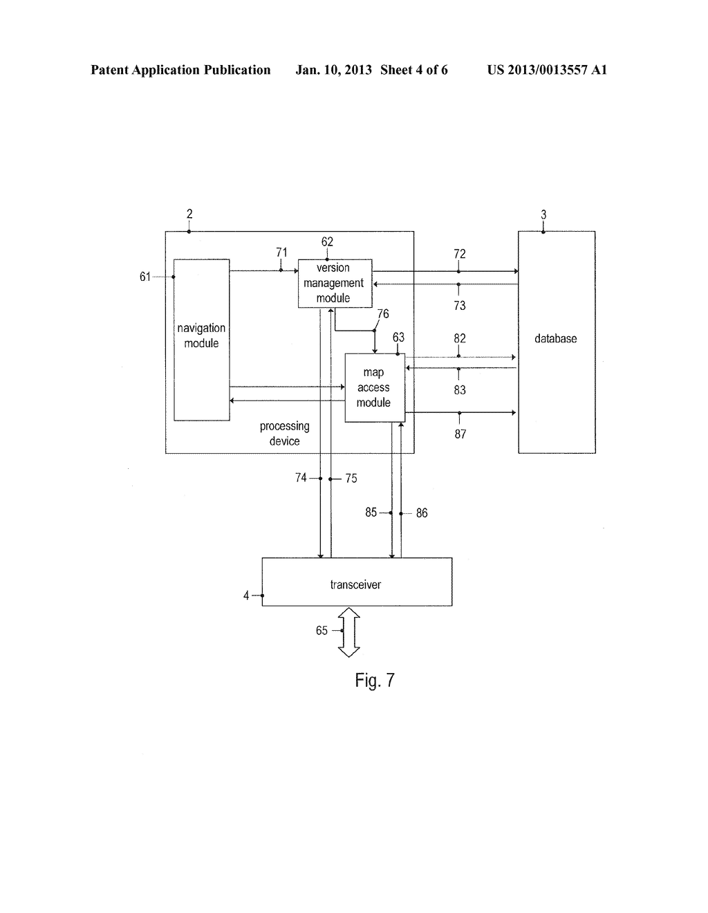 METHOD OF UPDATING A DATABASE OF A NAVIGATION DEVICE AND NAVIGATION DEVICE - diagram, schematic, and image 05