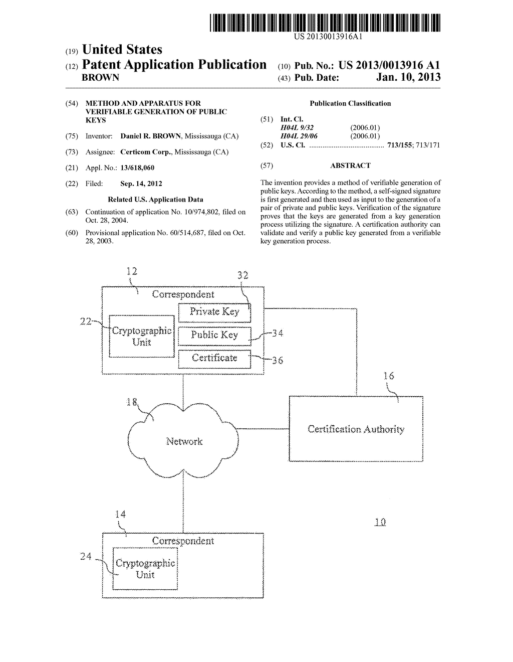 Method and Apparatus for Verifiable Generation of Public Keys - diagram, schematic, and image 01