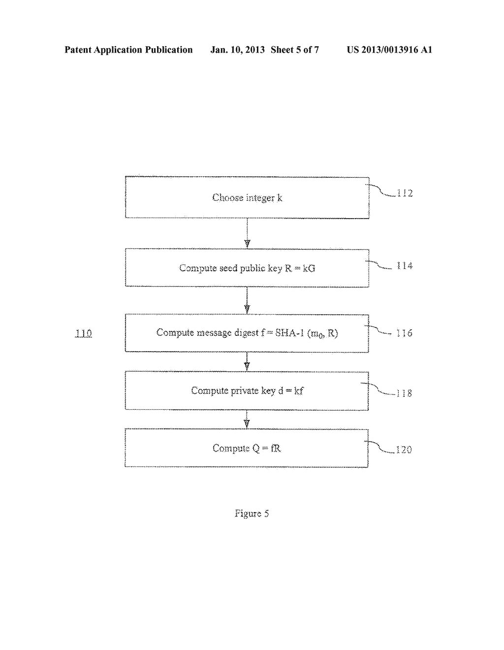 Method and Apparatus for Verifiable Generation of Public Keys - diagram, schematic, and image 06