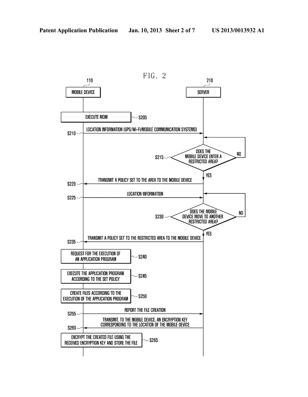 SECURITY MANAGEMENT SYSTEM AND METHOD FOR LOCATION-BASED MOBILE DEVICE - diagram, schematic, and image 03