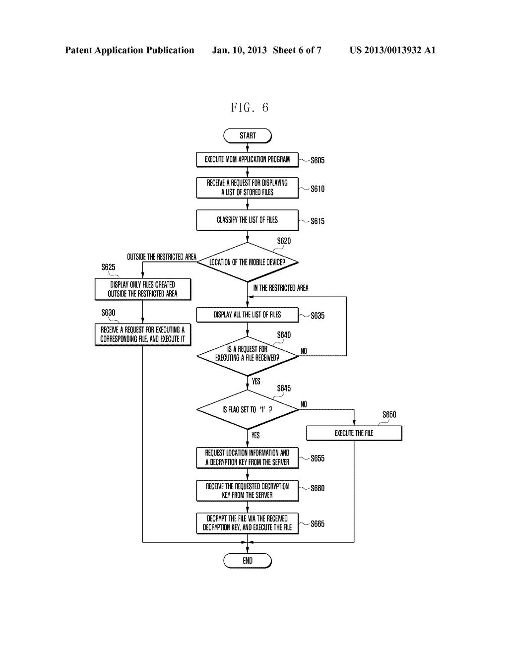 SECURITY MANAGEMENT SYSTEM AND METHOD FOR LOCATION-BASED MOBILE DEVICE - diagram, schematic, and image 07