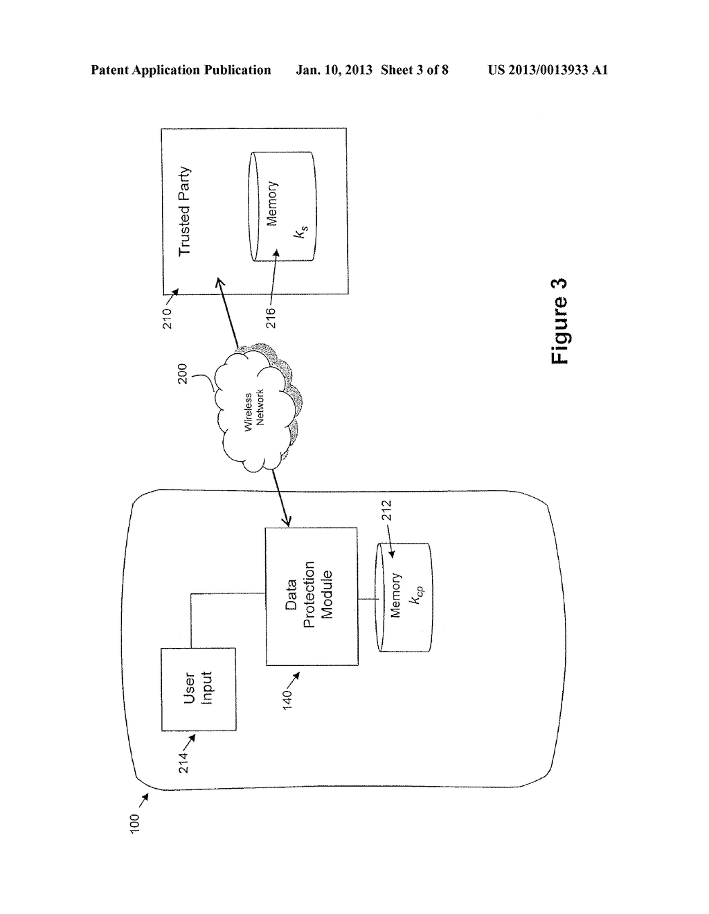 System and Method for Protecting Data on a Mobile Device - diagram, schematic, and image 04
