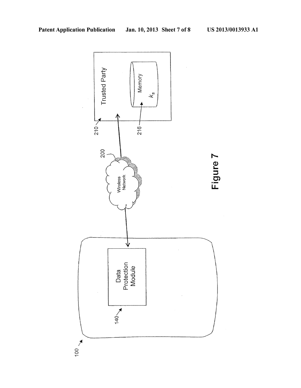 System and Method for Protecting Data on a Mobile Device - diagram, schematic, and image 08