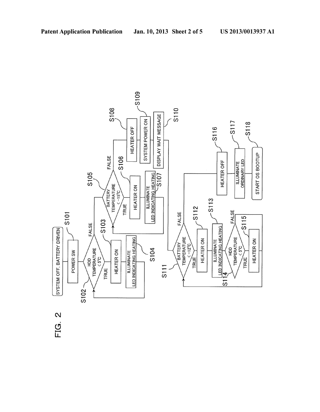 Information Processing Device and Method for Starting Up Information     Processing Device - diagram, schematic, and image 03