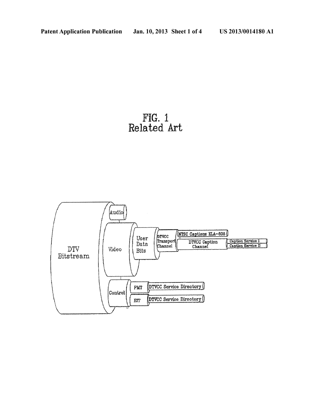DIGITAL BROADCAST RECEIVER AND METHOD FOR PROCESSING CAPTION THEREOF - diagram, schematic, and image 02