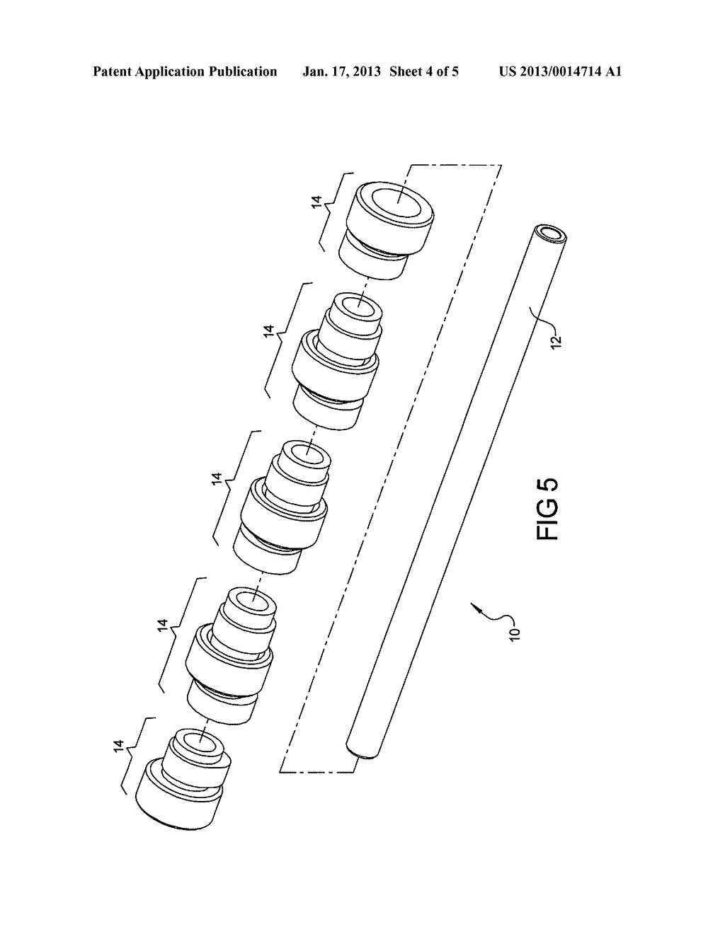 CAMSHAFT INCLUDING WEIGHT REDUCING FEATURES AND METHOD OF FORMING - diagram, schematic, and image 05