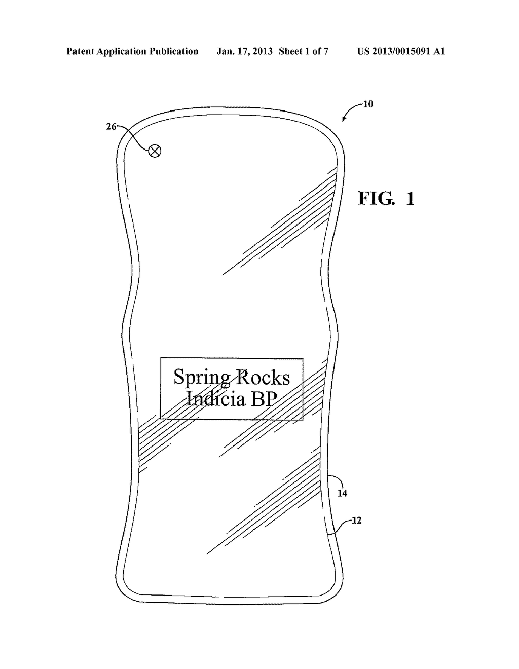FLEXIBLE POUCH WITH INNER WALL INDICIA - diagram, schematic, and image 02