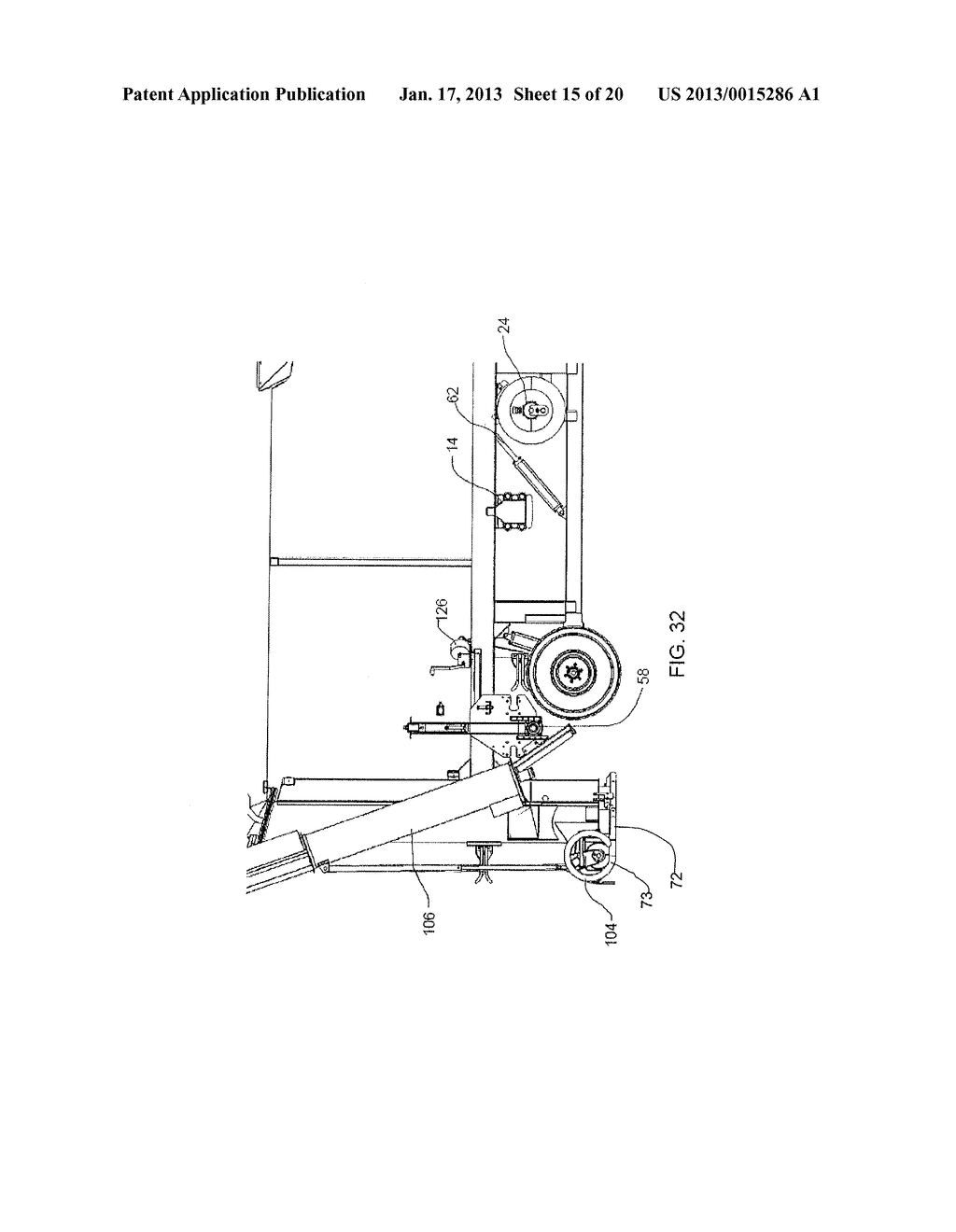 BAG HANDLING ASSEMBLY FOR A GRAIN BAG UNLOADING APPARATUS - diagram, schematic, and image 16