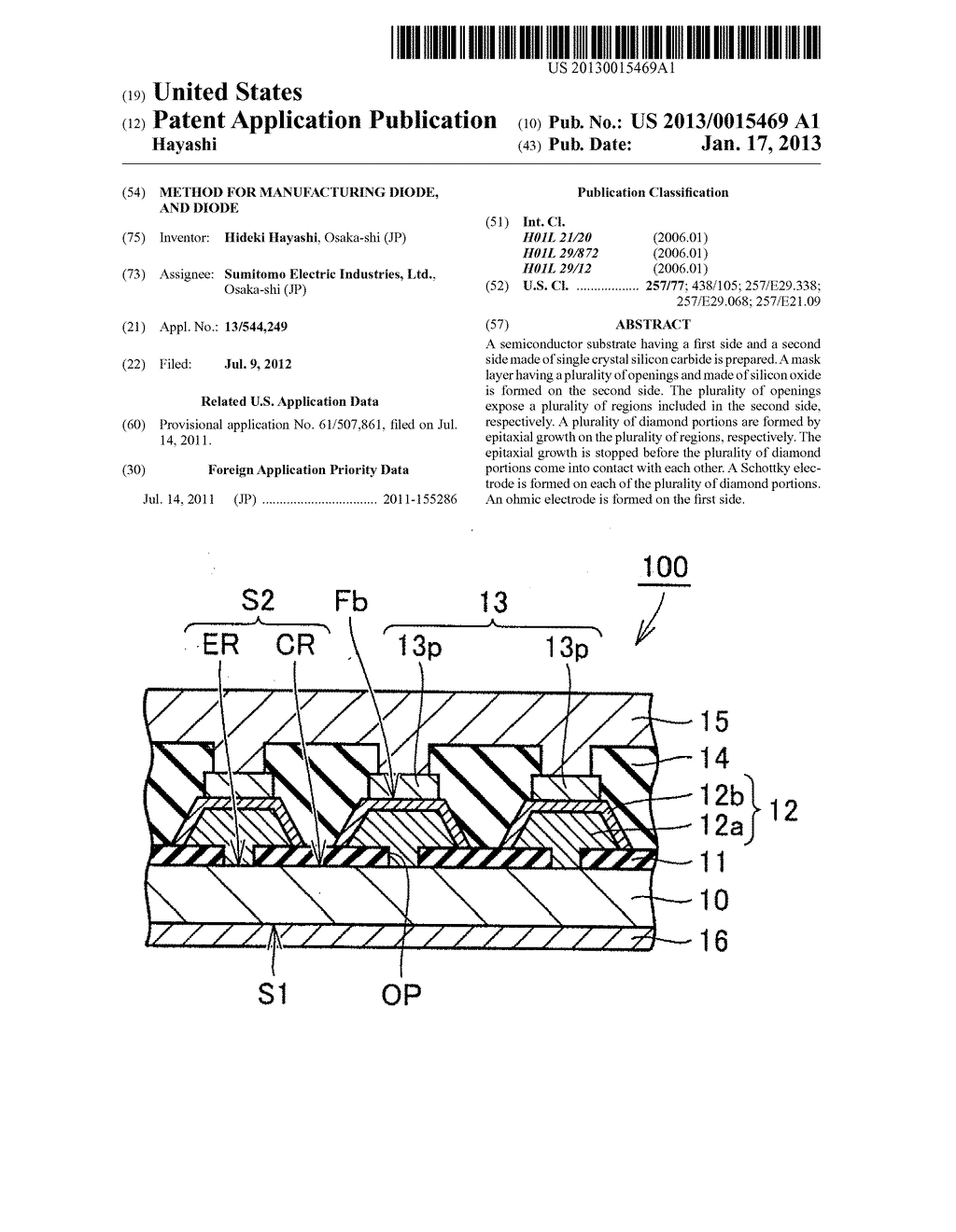 METHOD FOR MANUFACTURING DIODE, AND DIODE - diagram, schematic, and image 01