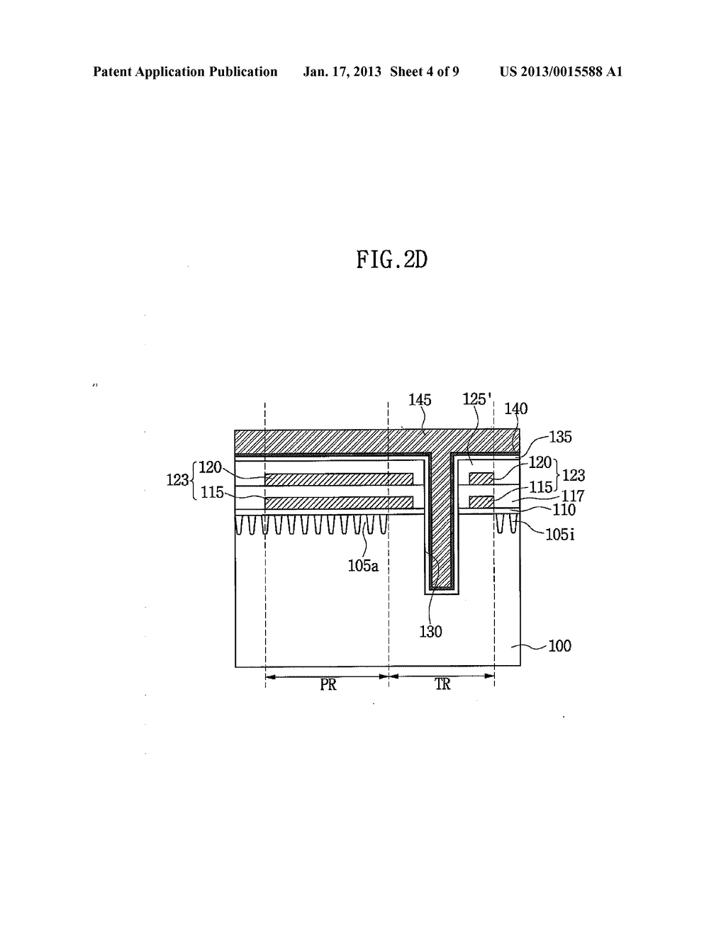 SEMICONDUCTOR DEVICE HAVING THROUGH ELECTRODE AND METHOD OF FABRICATING     THE SAME - diagram, schematic, and image 05