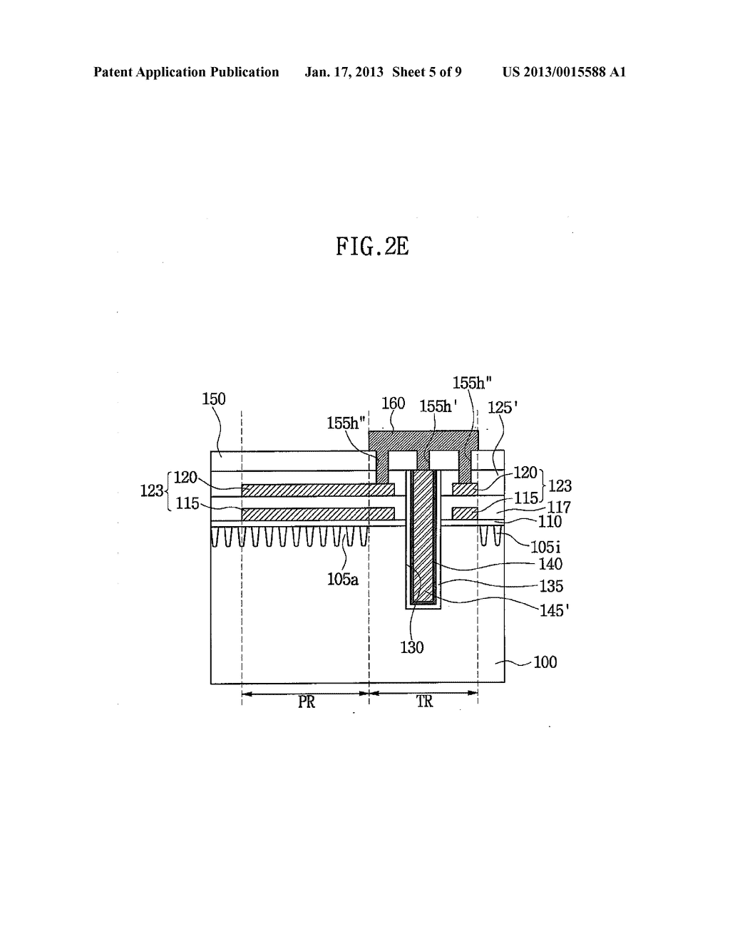 SEMICONDUCTOR DEVICE HAVING THROUGH ELECTRODE AND METHOD OF FABRICATING     THE SAME - diagram, schematic, and image 06